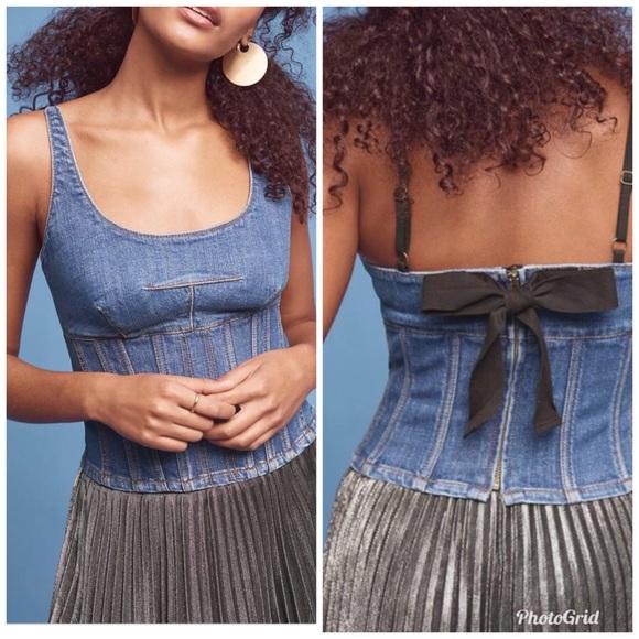 5c30f828d Anthropologie Maeve denim corset cami. M_5acc23dd739d4839114295e7